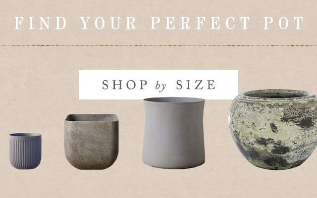 Find Your Perfect Pot | Shop by Size