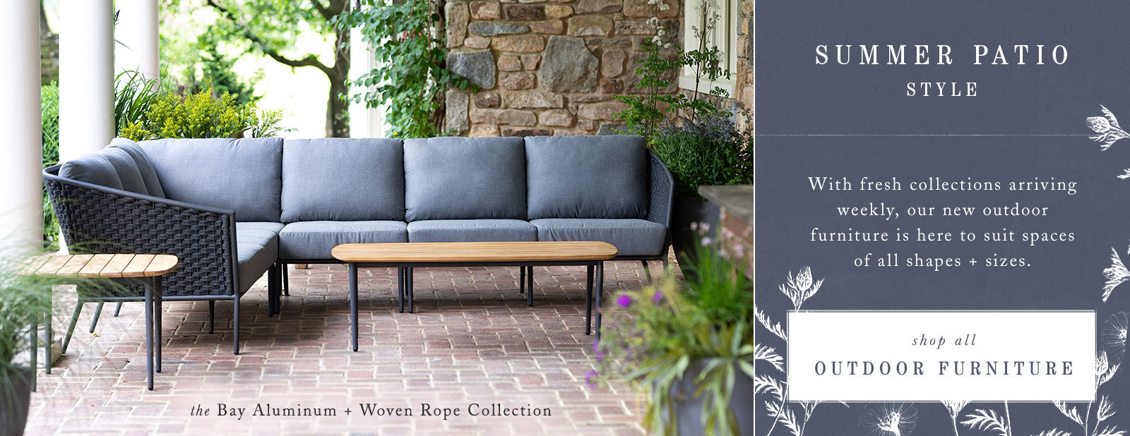 The Bay Aluminum and Woven Rope Collection | Shop All Furniture Collections