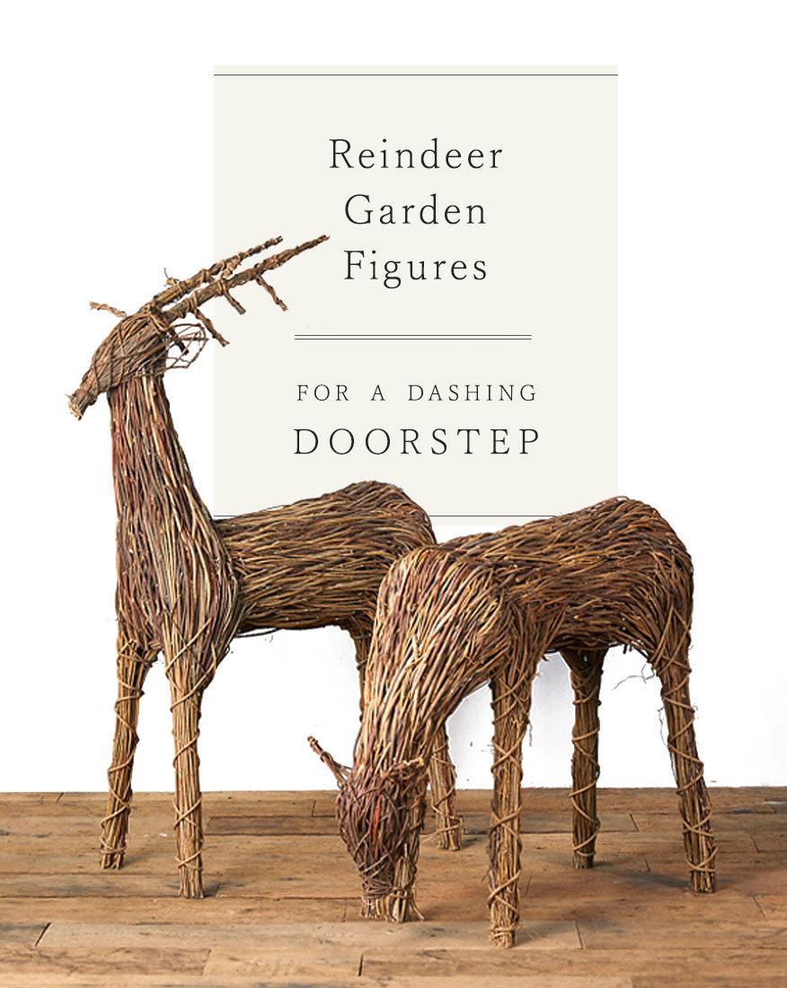 Reindeer Garden Figures for a dashing doorstep