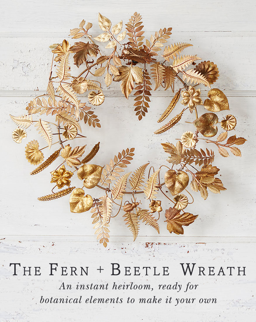 Holiday Wreaths   to deck with textured ribbon, faux stems, or foraged botanicals