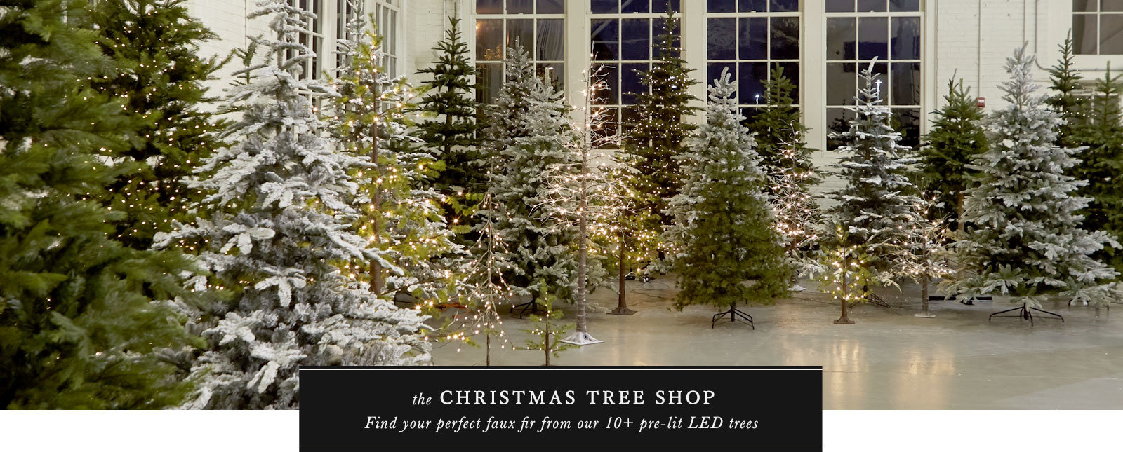 The Faux Christmas Tree Collection | with over 10 Pre-Lit LED styles to choose from