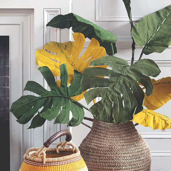 NEW Faux Tropical Stems | bring lasting warmth to winter decorating