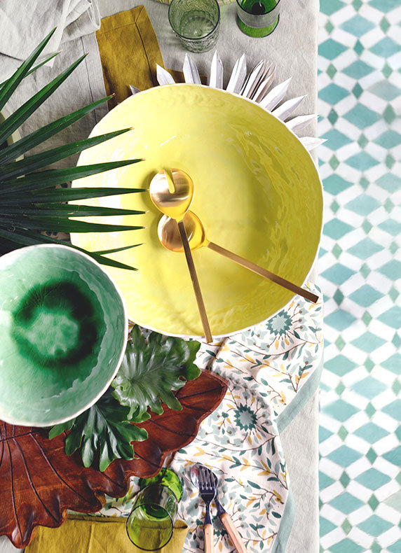 The Tropical Table | special serveware in punchy colors