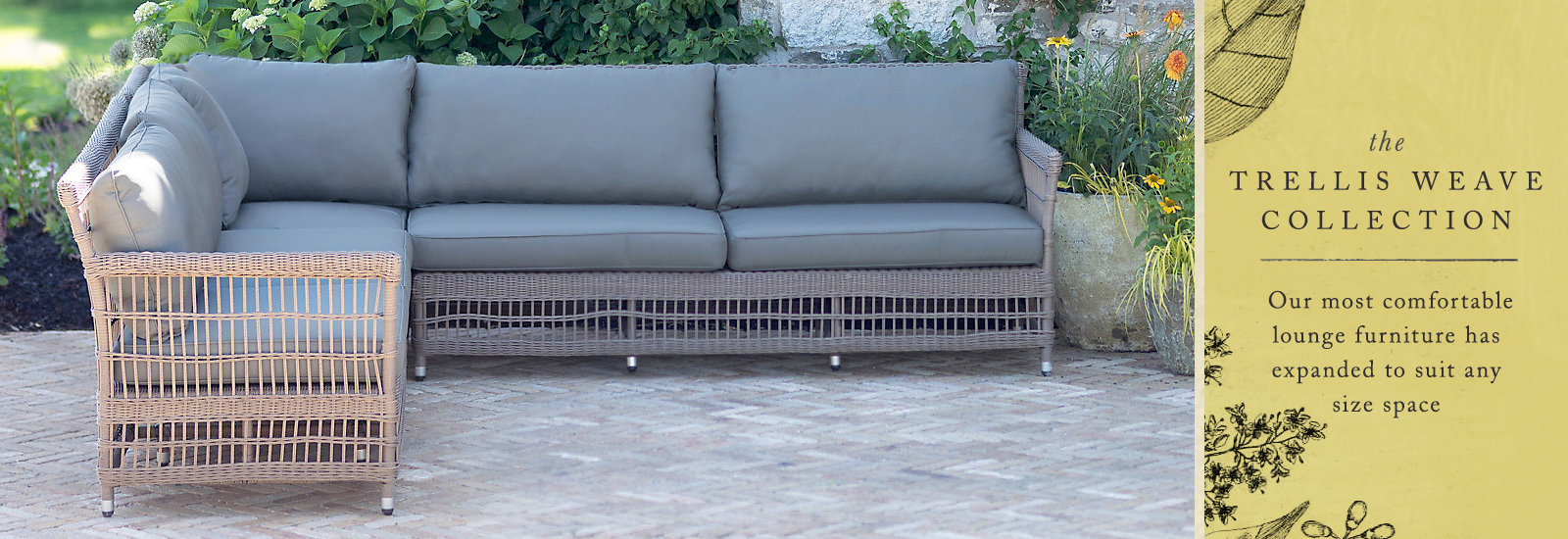 The Trellis Weave Collection | our most comfortable lounge furniture