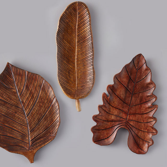 Carved Boards + Platters | in nature-inspired silhouettes