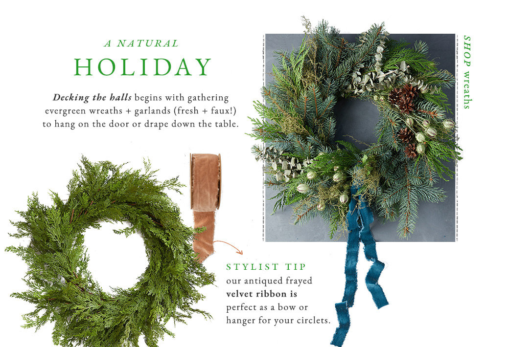 A Natural Holiday | Shop Wreaths