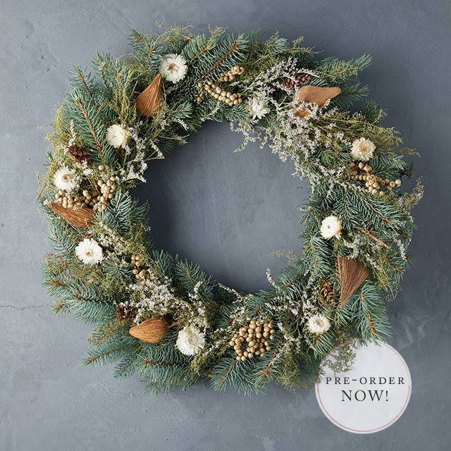 Winter Wreaths | fresh, faux and preserved