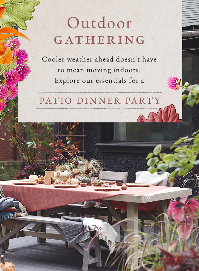 Outdoor Gathering | Cooler weather ahead doesn't have to mean moving indoors.