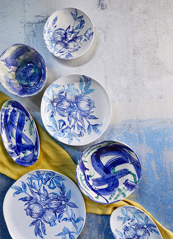 Hand-Painted Ceramic Serveware | To cure the winter blues