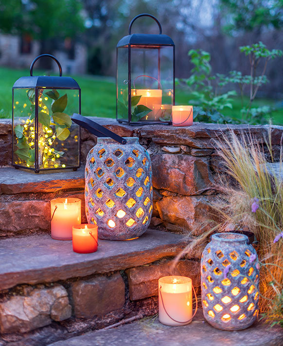 Lanterns + Lights | set the tone for patio evenings